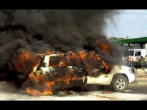 A White Suv Caught Fire On Thursday 9th Sept 2014 Along