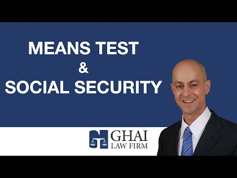 Means Test & Social Security