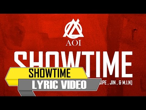 Aoi - SHOWTIME (feat. Alasipe , JIN , & M.I.N) [Official Lyric Video]