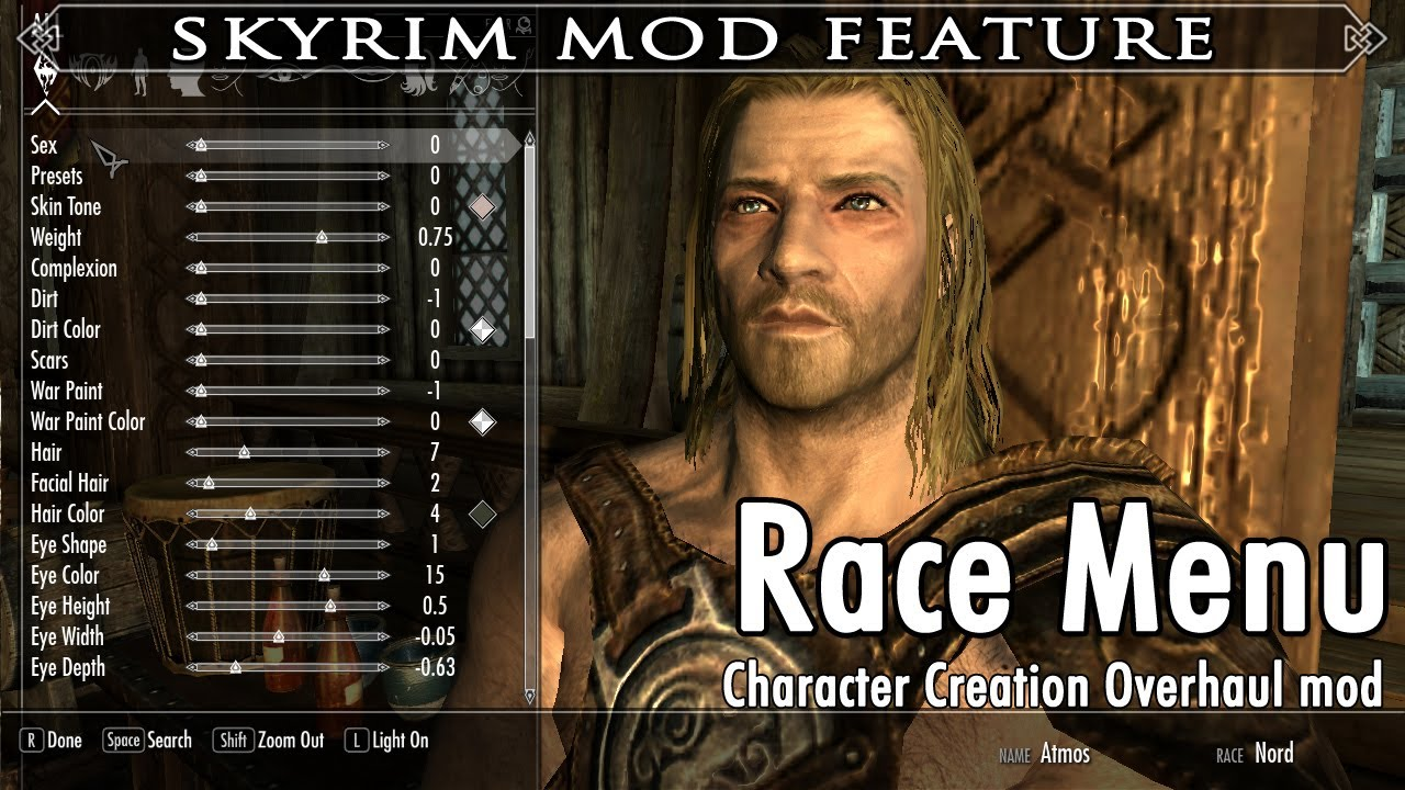 Skyrim Mod Feature: RaceMenu by expired