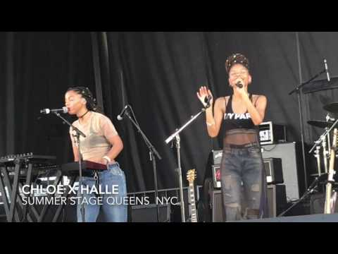 CHLOE X HALLE At Flushing Meadows Park