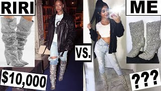 MAKING RIHANNA'S CLOTHES *for cheap!* thumbnail
