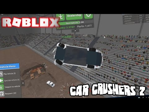 ROBLOX CAR CRUSHERS 2 FUNNY MOMENTS