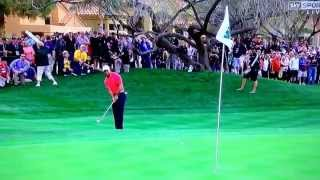 Tiger woods chipping yips Phoenix waste management 2015