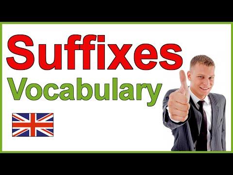 English Suffixes | Learn English Vocabulary