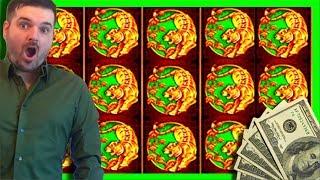 HUGE WIN!! LIVE PLAY and Bonuses on 5 Treasures Slot Machine