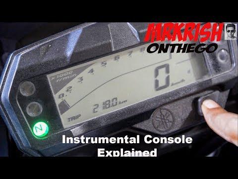 Yamaha FZ-S V2.0 Instrumental Console Explained