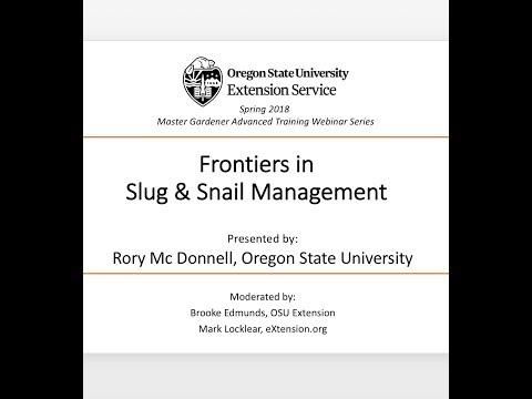 Frontiers in Slug & Snail Management