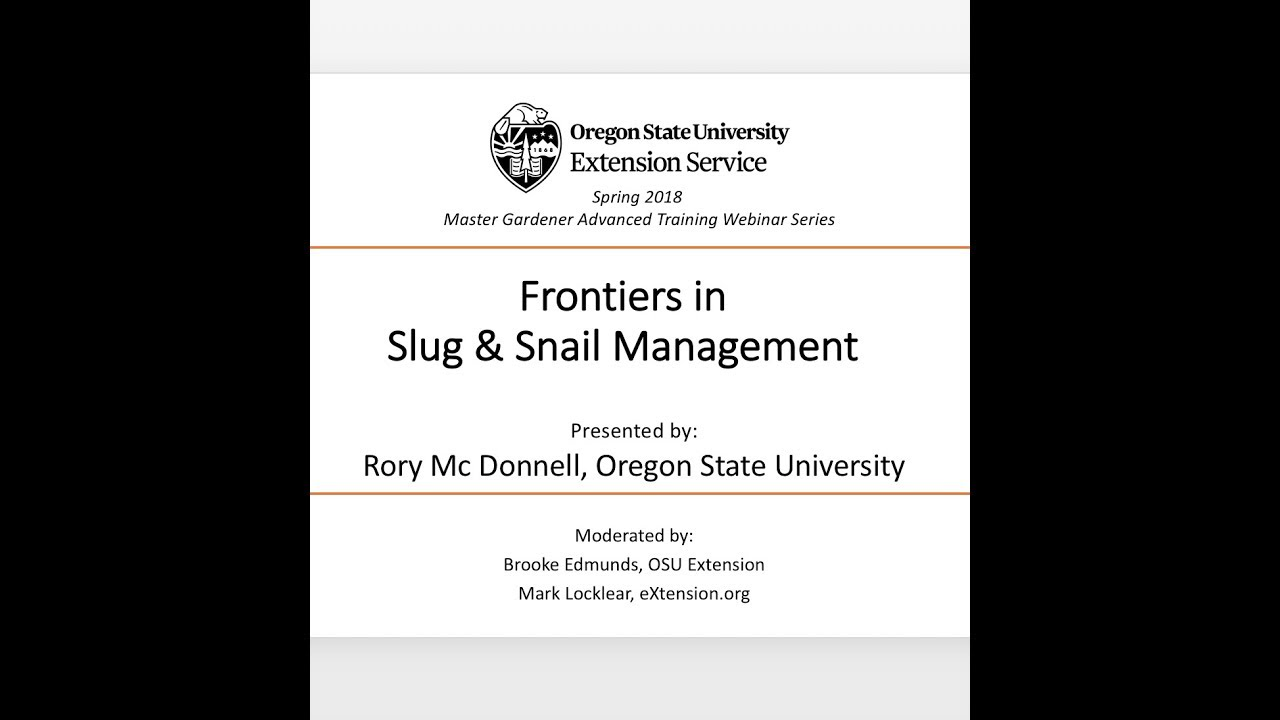 Frontiers In Slug Snail Management Youtube