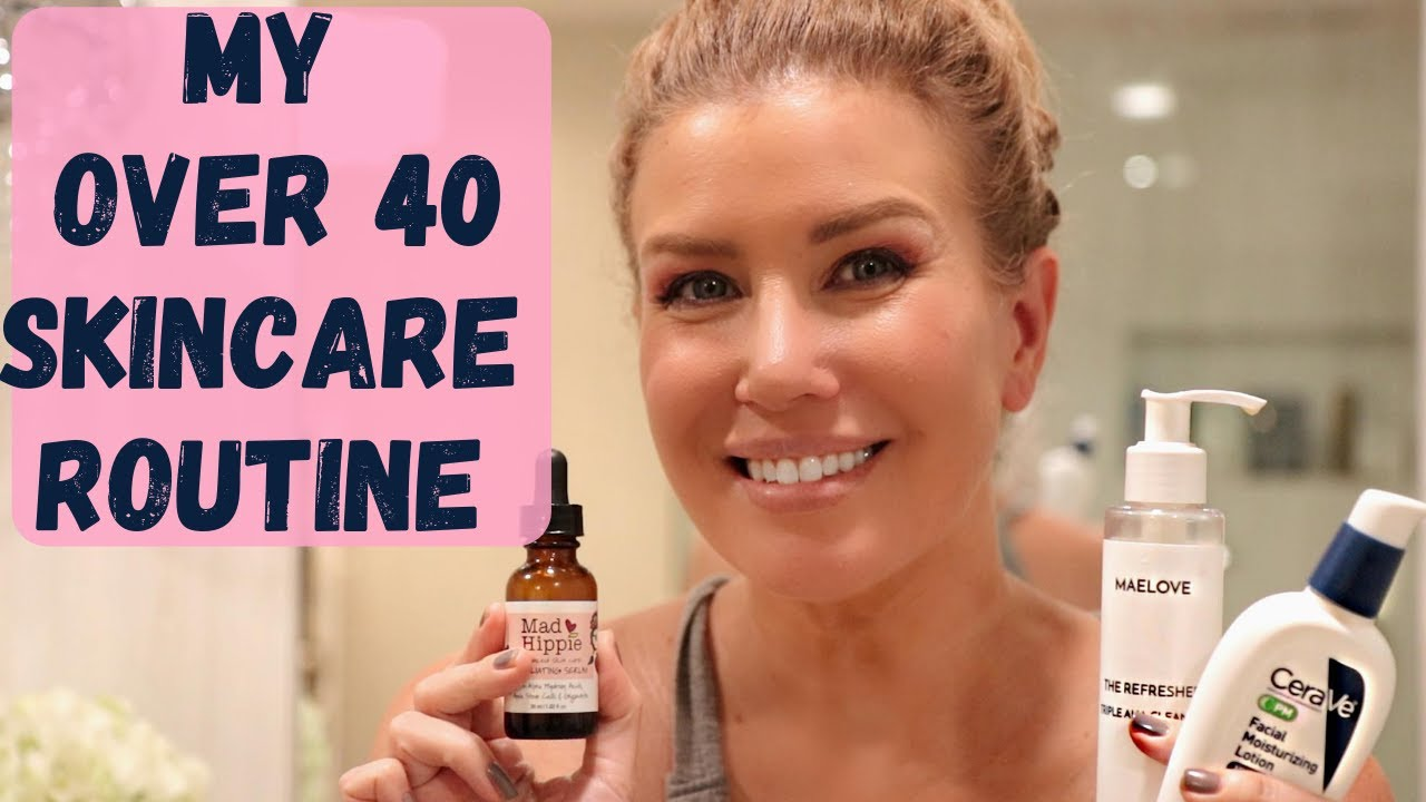 My Over 40 Anti-Aging Nighttime Skincare Routine + Bathroom Remodel Reveal!