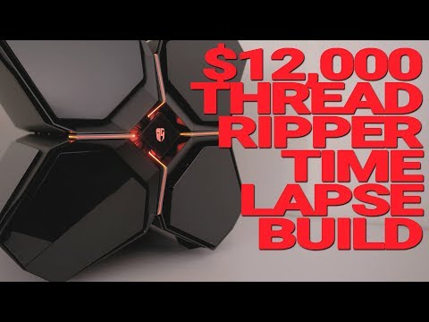 $12000 Threadripper Time-Lapse Build in the new Quadstellar Chassis