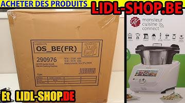Acheter sur LIDL-SHOP.BE Belgique ou LIDL-SHOP.DE Allemagne j'ai acheté MONSIEUR CUISINE CONNECT
