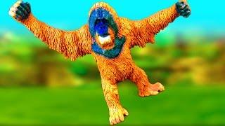 New Happy Wild Animals Fun Kids Toy Review Ape Monkey