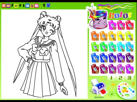 Sailor Moon Coloring Pages Online