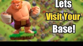 let's visit base #clash of clans # coc live # clash of clans india#pleace come for visiting base.