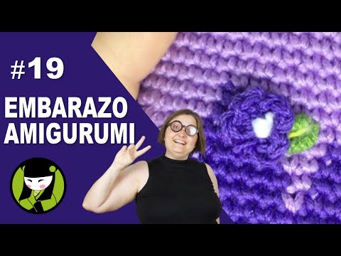 Mujer embarazada tejida a crochet 19 FORES BORDADAS EN AMIGURUMI