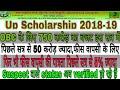 Up scholarship 2018-19   obc के लिए इस सत्र में 750 करोड़ का बजट    up scholarship status 2018-19   