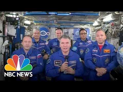 Pope Francis Talks To Space Station Astronauts | NBC News