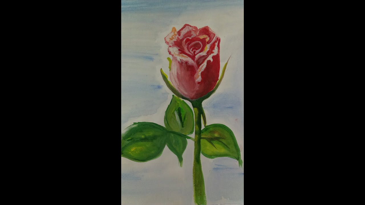 Easy watercolor rose painting youtube for How to paint a rose watercolor