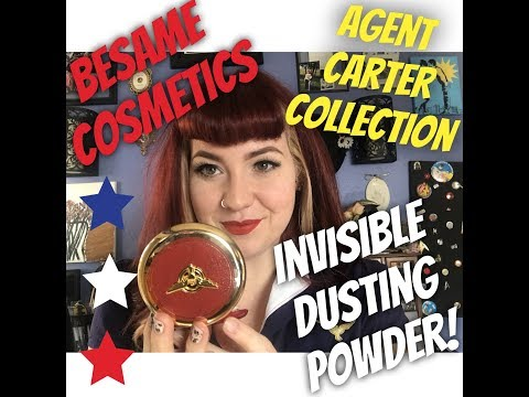 Besame Cosmetics Agent Carter Invisible Dusting Powder *Review*!