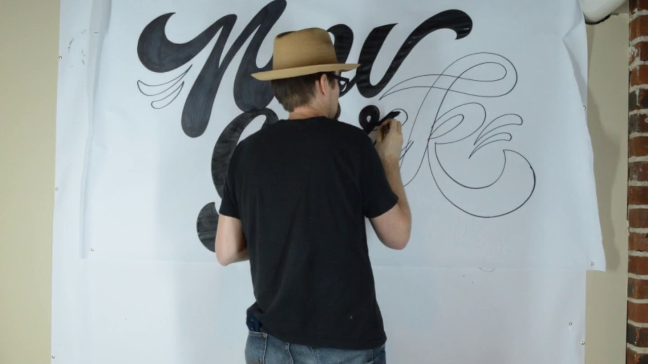 Wall Lettering By CJ Hughes   Lettering Mural Artist   Office Mural Artist  CJ Hughes