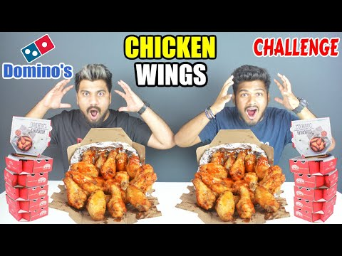 DOMINOS CHICKEN WINGS CHALLENGE | SPICY CHICKEN WINGS EATING COMPETITION | Food Challenge(Ep-138)
