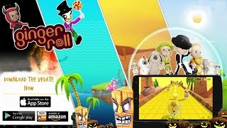 Ginger Roll Mobile Gameplay On IOS / Android #GingerRoll Mobile Onlines Game For Kids