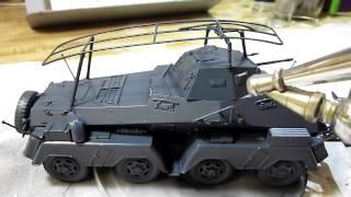 Building Tamiya Sd.Kfz.232 Schwerer Panzerspahwagen 8-Rad In 1/35 Scale
