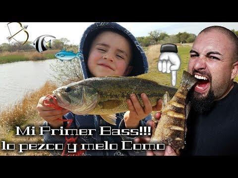 Dia De Pezca Mi Primer Bass!!! y melo Como Doradito
