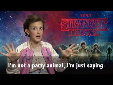 "Millie Bobby Brown plays 80's ""Would you rather?"""