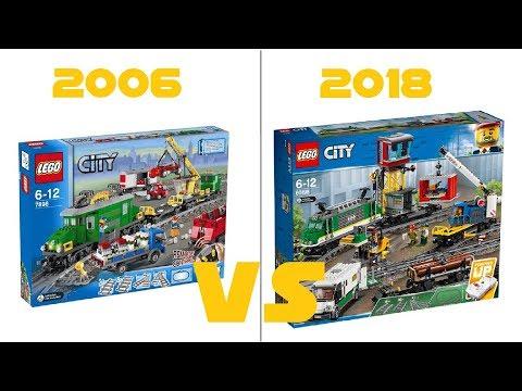 LEGO CITY - 60198 Freight Train VS 7898 Cargo Train Deluxe - HD-Pictures + COMPARISON
