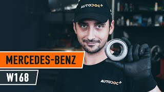 rear and front Wheel bearing kit change on MERCEDES-BENZ A-CLASS (W168) - video instructions