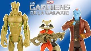Les Gardiens de la Galaxie Groot Rocket Yondu Figurines Marvel Hasbro Jouet Toy Unboxing