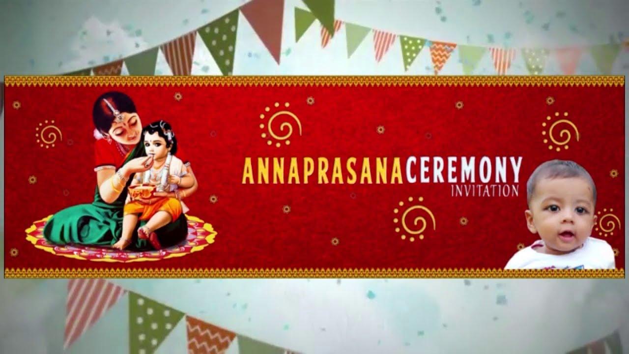 Raghav Annaprashan Ceremony Invitation Video Youtube