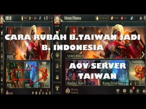 Cara Merubah Bahasa Aov Taiwan Jadi Bahasa Indonesia Gampang Banget Arena Of Valor