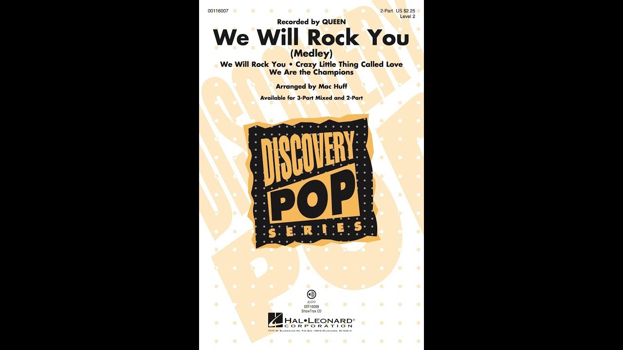 We Will Rock You (Medley) - Discovery Level 2 2-Part | Hal