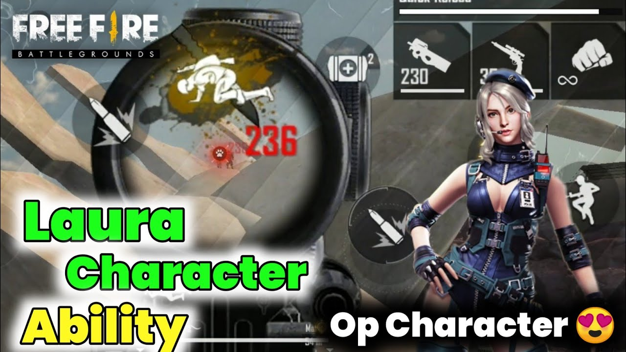 Download Laura Character Ability - Full Details | The Sharp Shooter || Garena Free fire ||