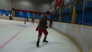 20140808にアイスリンク仙台でスピンの練習をしました。