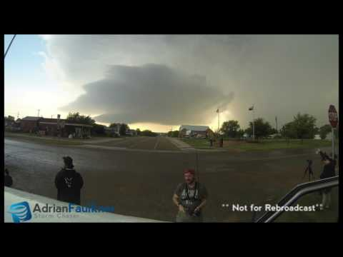 Turkey, Texas Supercell Timelapse - 23rd May 2016