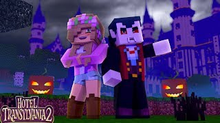 LITTLE KELLY GETS INVITED TO HOTEL TRANSLYVANIA BY DRACULA| Minecraft Little Kelly thumbnail