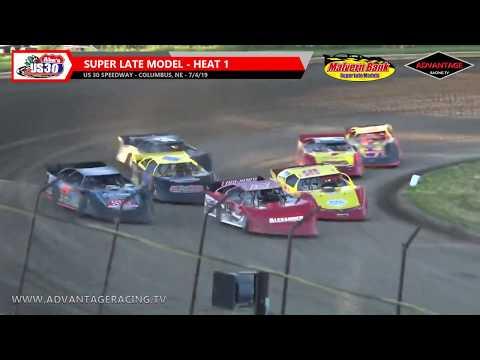Super Late Model Heats - US 30 Speedway - 7/4/19