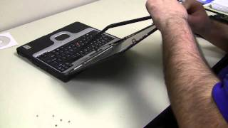 replacing the laptop backlight inverter to fix a dark screen