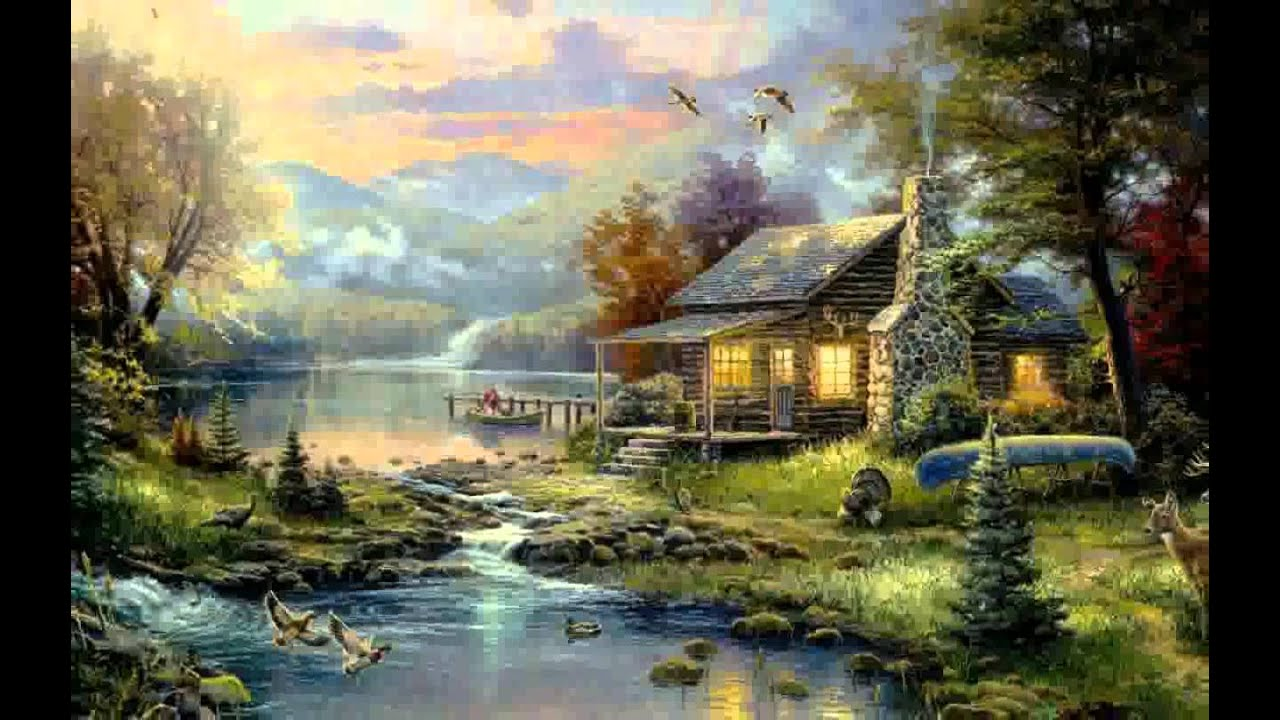 Forest House Painting Pictures Youtube