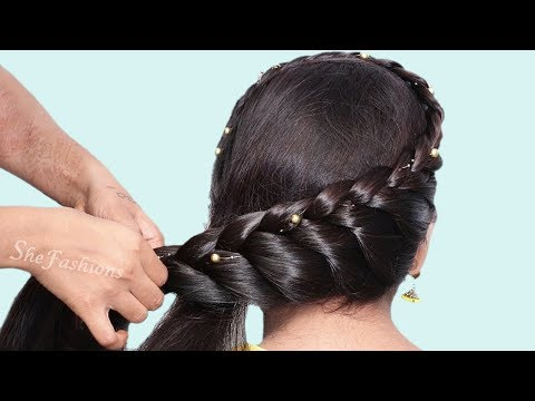 6 Easy hairstyles for wedding guest | Quick hairstyle 2019 | Beautiful Hairstyles | hair style girl thumbnail