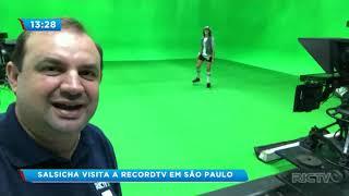 Salsicha visita à Record TV em São Paulo PARTE 03