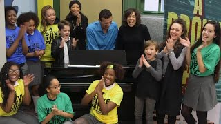 Kids Are Surprised With New Pianos at School