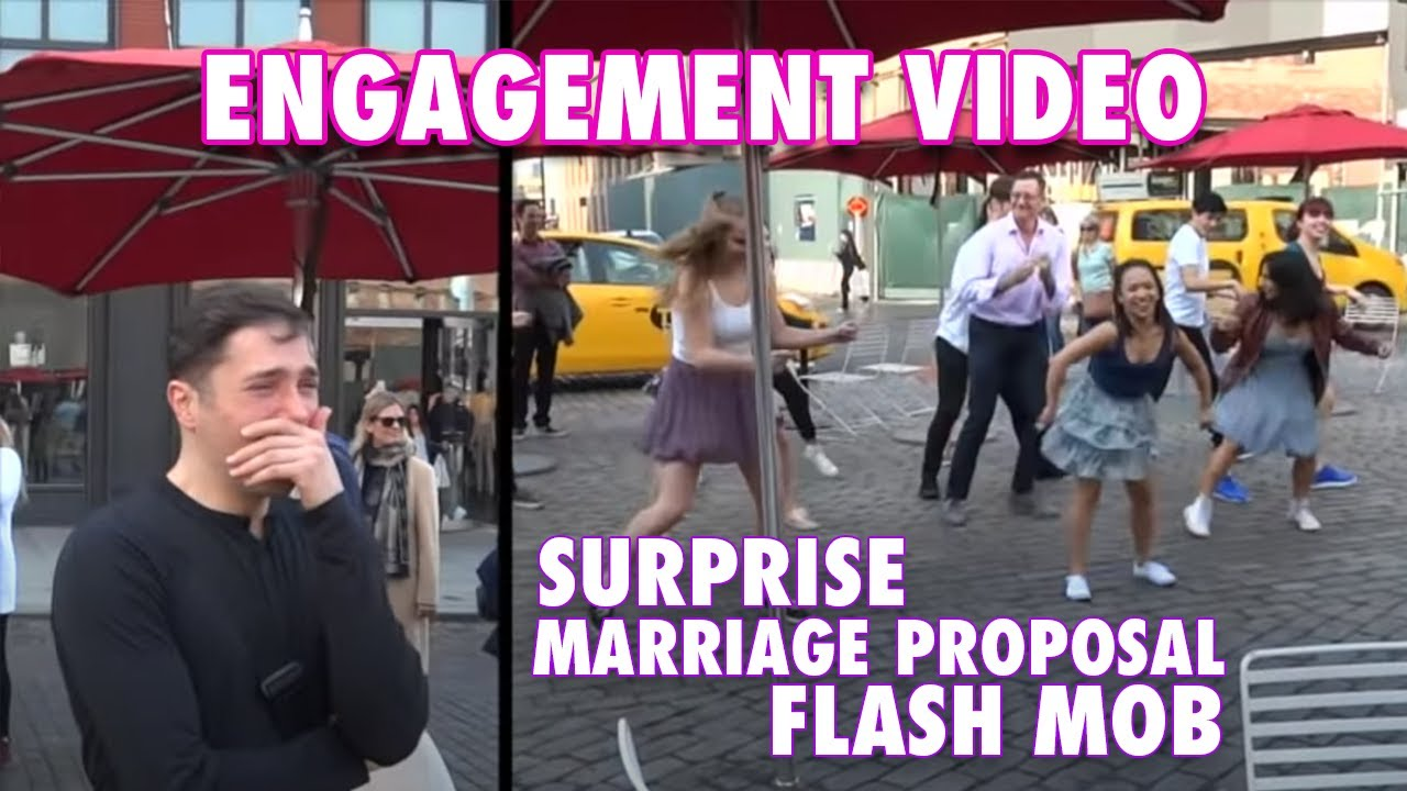 e71bbf5466b9b2 Romantic Surprise Flash-Mob Marriage Proposal - Watch the Reaction ...
