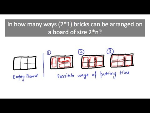 Dynamic programming problem: Number of ways to arrange tiles on a 2*n board