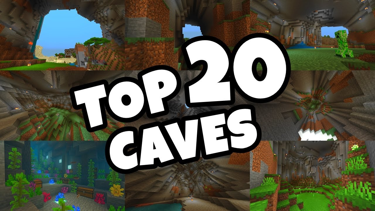 Top 20 Best Cave Seeds For Minecraft 1 16 Bedrock Edition Pe Xbox Ps4 Switch W10 Youtube