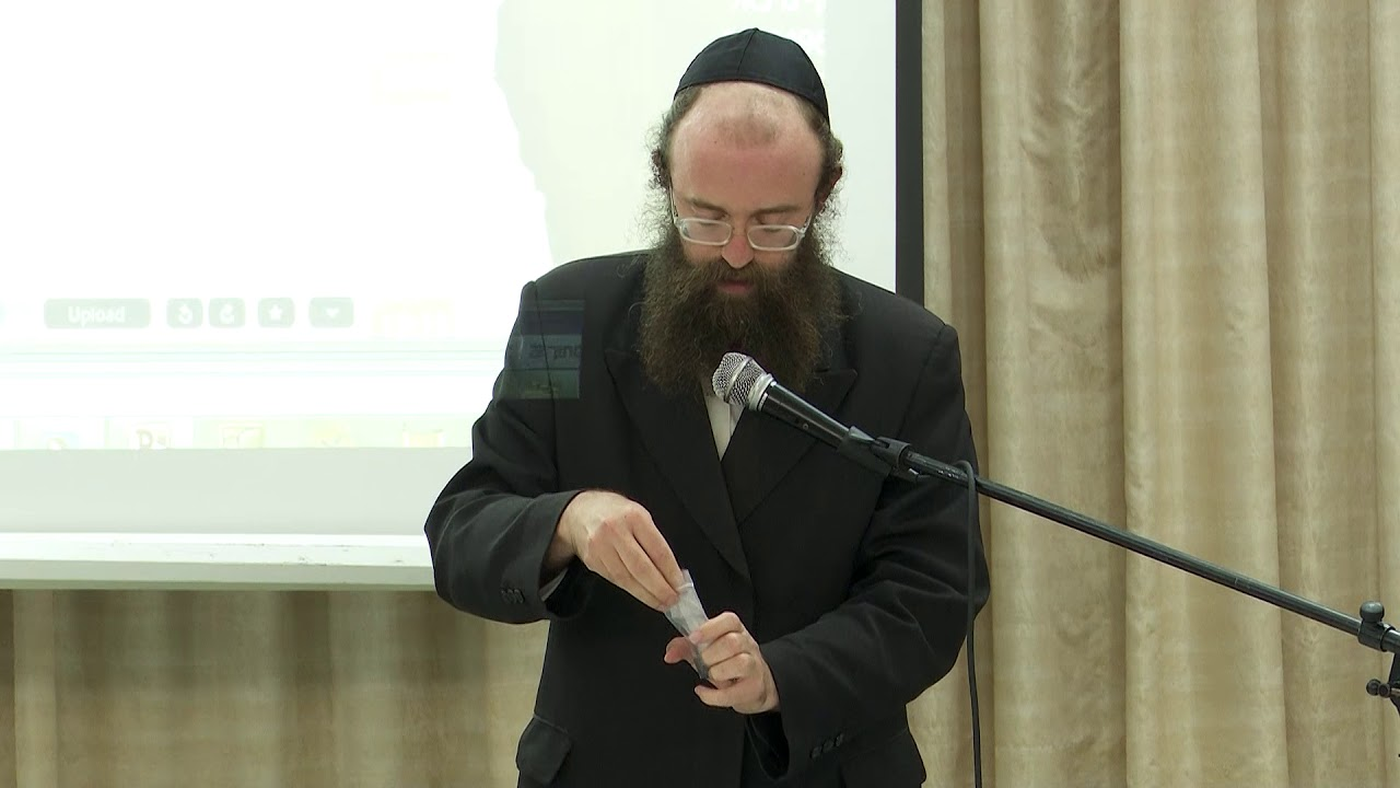 """הרב ישראל גולדווסר, הדגמת עשיית התכלת,כנס """"מתחת לפני השטח - 2"""", אגודת """"מטמוני ארץ"""""""